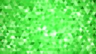 Loopable astratto triangoli sfondo verde