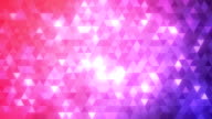 Loopable abstract triangles background violet