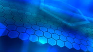 Loopable, Blue Abstraction, Hexagons