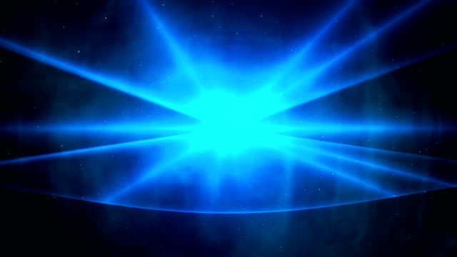 Loopable blue laser show background