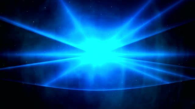 Endlos wiederholbar Blau Lasershow Hintergrund