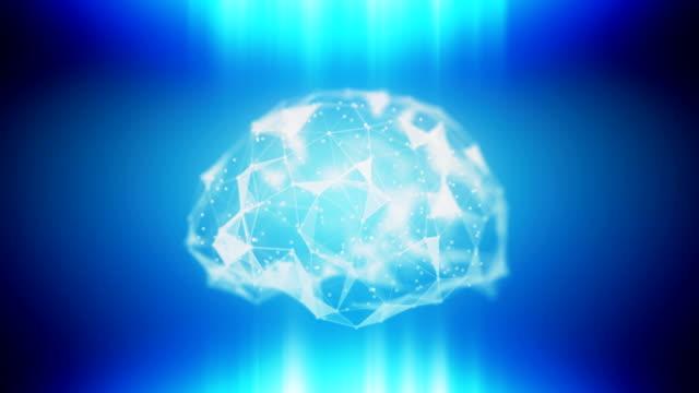 AI ML loopable brain background