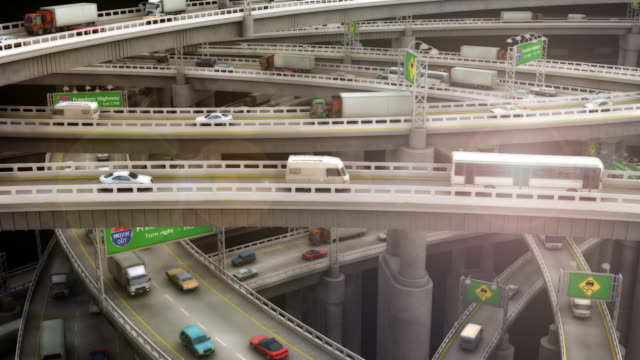 Loopable, Close-up of Crazy Highway Traffic