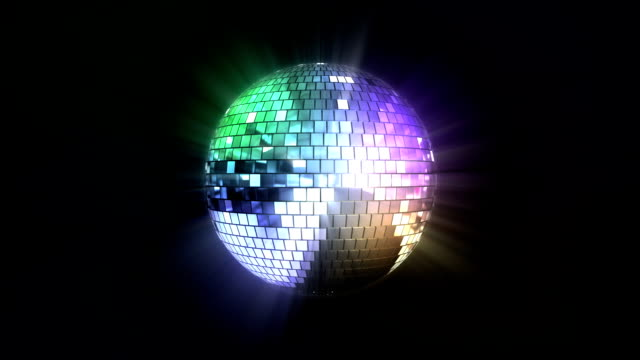 Loopable colorful disco ball