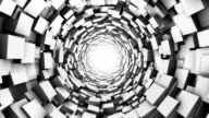 Loopable Cube tunnel. Abstract Geometry.