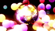 Loopable disco ball and blured lights