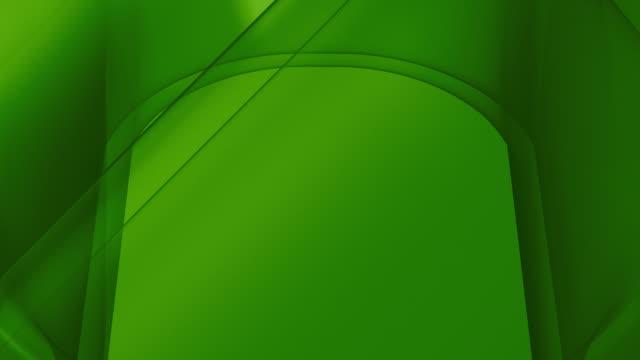 Endlos wiederholbar, dynamische geometrische Formen Green