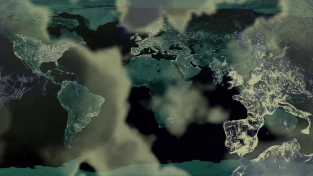 Loopable, Earth Map with Clouds