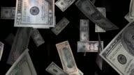 Endlos wiederholbar, fallenden und schwimmende US-Dollar