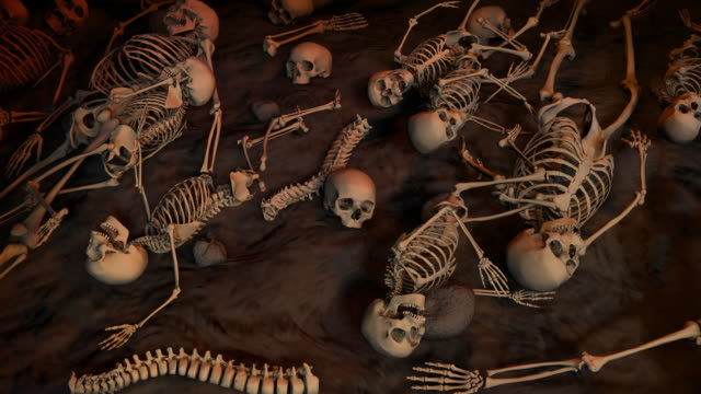 Loopable, Field of skeletons for Halloween, Massacre, Genocide