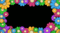 Loopable, Frame of Stylized Flowers