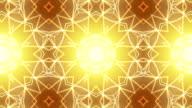 Endlos wiederholbar golden Kaleidoskop Hintergrund