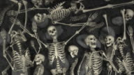 Loopable, Halloween, Field of humans skeletons