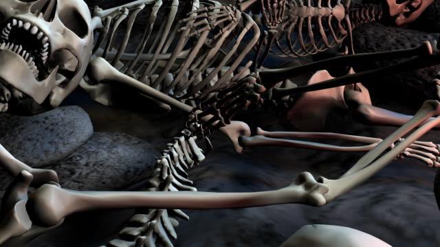 Loopable, Halloween, Field of humans skeletons