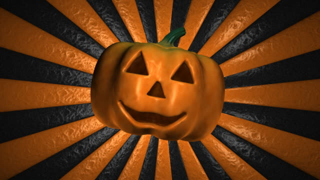 Loopable, Halloween, Pumpkin with spinning Background
