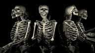 Loopable, Halloween, Spinning Skeletons