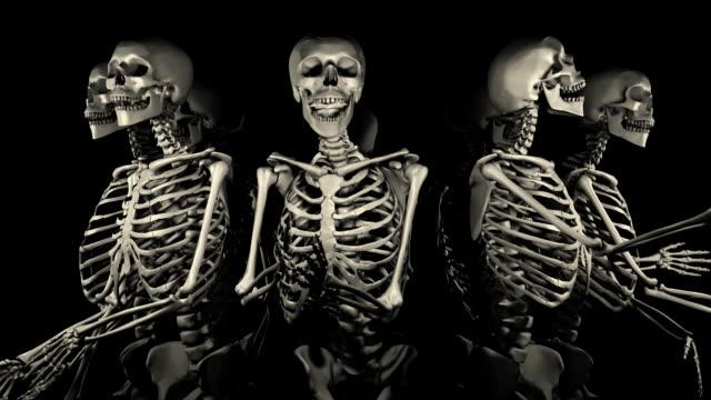 Loopable, Halloween, Spinning Skeletons