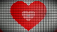 Loopable Heart on LED Wall