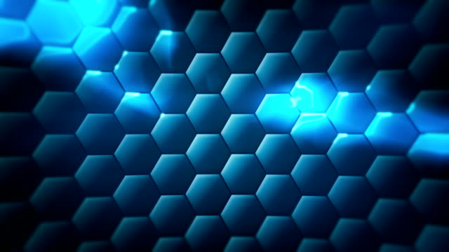 Loopable hex technology background