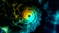 Loopable information highway tunnel black hole travel in virtual reality background