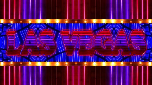 Loopable Neon LAS VEGAS Marquee