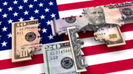 Loopable, Puzzles USA Money Currency over USA flag (3 versions)