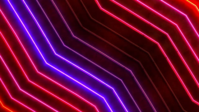 Loopable Red and Blue Neon Sign