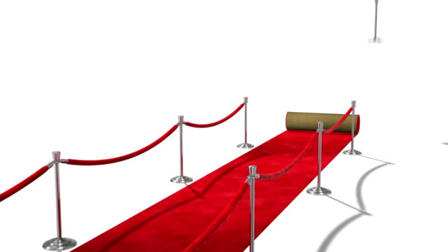 Loopable Red Carpet on White
