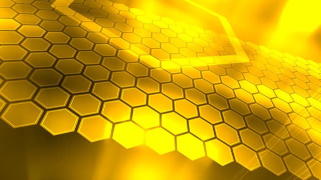 Loopable, Yellow Abstraction, Honeycombs
