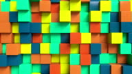 Looping Abstract cubes colorful