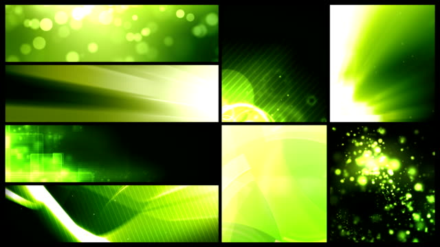Looping Banner Backgrounds - 24 Video Value Pack Green