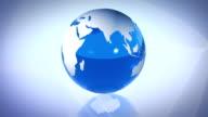 Looping blue Glass World