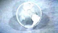 Looping Ice Globe