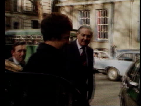 Lord Callaghan dies FILE / TX 281059 London James Callaghan arriving at Transport House FILE / Date Unknown Westminster Callaghan along by car FILE /...