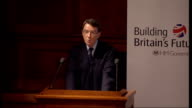 Lord Mandelson speech on 'New Industry New Jobs' policy framework Mandelson speech SOT All this private investment requires government encouragement...