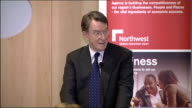 Lord Mandelson speech on regional economies Mandelson speech SOT In my mind there are three keys to unlocking this potential The need for a strategic...