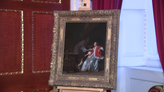 Lord Mayor returns looted Nazi art to daughter of its original owner ENGLAND London Mansion House INT Various of 'The Oyster Meal' painting by Dutch...