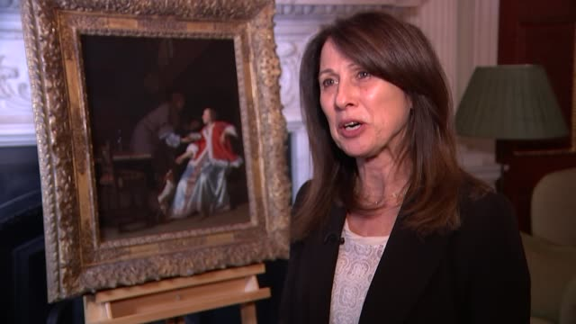 Lord Mayor returns looted Nazi art to daughter of its original owner Mansion House INT Anne Webber interview SOT/ Andrew Parmley interview SOT/ Close...