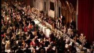 Lord Mayor's Banquet at London's Guildhall Arrivals and Gordon Brown speech Prime minister announced SOT / Gordon Brown speech SOT My Lord Mayor my...