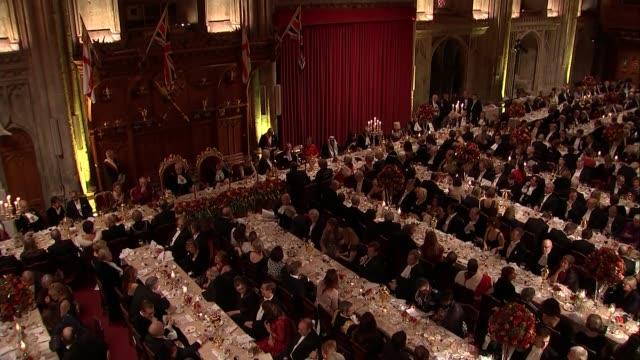 Lord Mayor's Banquet Closing speeches Dr Andrew Parmley speech SOT David Lidington MP speech SOT