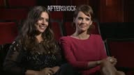 INTERVIEW Lorenza Izzo and Andrea Osvart on how the film moves from a fun story to a horror story at the 'Aftershock' Los Angeles Press Junket...
