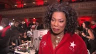 INTERVIEW Lorraine Toussaint on why she chooses to fight heart disease at The American Heart Association's Go Red For Women Red Dress Collection 2017...