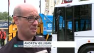 Lorry safety measures in London to make cycling safer Andrew Gilligan interview SOT