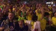 Los aficionados llegaban el jueves al estado Mineirao de Belo Horizonte al sureste de Brasil para presenciar el partido entre la verdeamerela y...