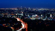 skyline von Los Angeles und Hollywood