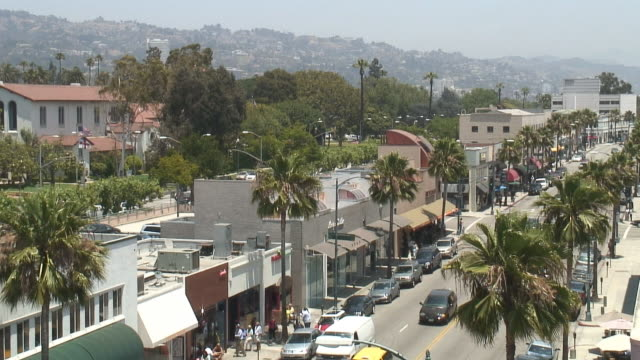 (HD1080i) Los Angeles: Beverly Hills Retail Street