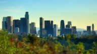 Los Angeles, CA: day to night time lapse