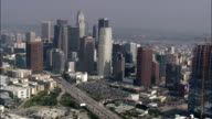 Los Angeles City From the South  - Aerial View - California,  Los Angeles County,  United States