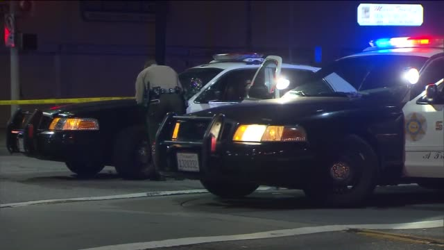 KTLA Los Angeles County Sheriff's Crime Scene on October 23 2015 on Whittier A teenager was fatally stabbed