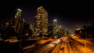 Los Angeles Highway at Night